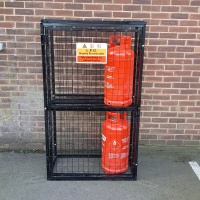 Gas Cylinder Cage with shelf GC806