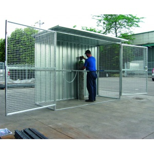 48 Gas Cylinder Safety Cage open