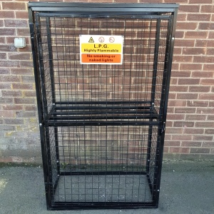 Gas Cylinder Cage with shelf Empty