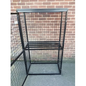 Gas Cylinder Cage with shelf  Open