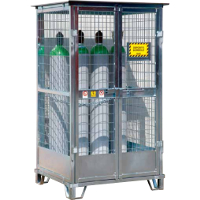 picture of gas cylinder cage