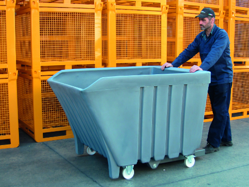 picture polyethylene tilting skip